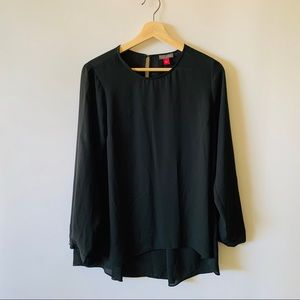 Vince Camuto Black Long Sleeved Blouse